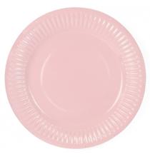 Petites Assiettes Rose Poudré Pastel