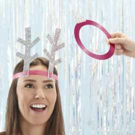 Jeu Animation Noël Tête de Renne Glitter Argent