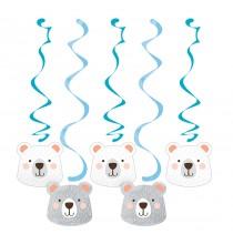5 Guirlandes à Suspendre Ours polaire - Anniversaire Banquise & Ours blancs