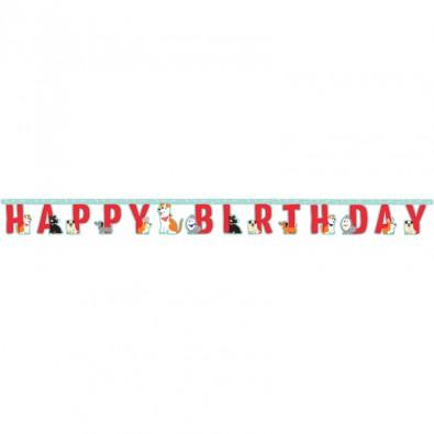 Banderole Happy Birthday Thème Chiens - Anniversaire et Fête