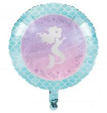 Ballon Alu Petite Sirène Holographique - Anniversaire