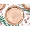 8 Petites Assiettes Rose Gold / Rose Cuivré en Papier Premium