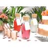 6 Gobelets Verres Rose Gold / Rose Cuivré Brillant en Papier Premium