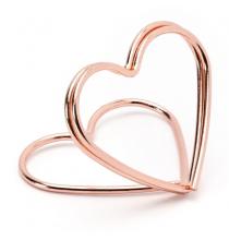 10 Marques Places - Porte-étiquettes de buffet Rose Gold / Rose Cuivré Sweet Table