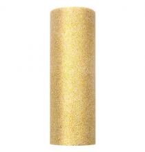 Chemin de table tulle pailleté doré premium