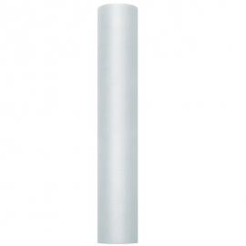 Chemin de table tulle gris - rouleau de 9 mètres