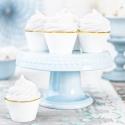 6 Contours à Cup Cakes Blanc et Doré