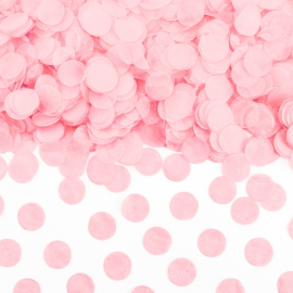 Sachet de confettis ronds roses