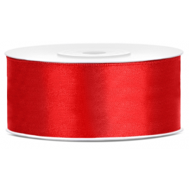 Ruban Large Satin 25mm Rouge 25m