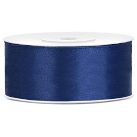 Ruban 25mm Satin Bleu Marine 25m