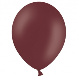 10 ballons latex premium - marron