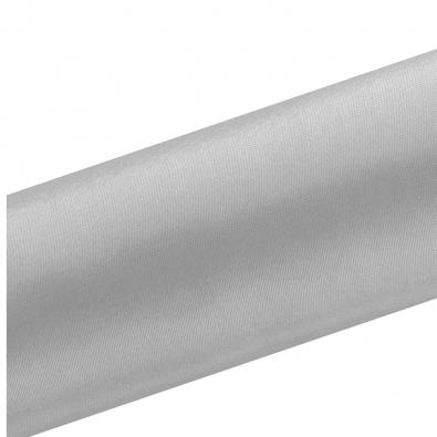 Chemin de table satin gris - 16 cm rouleau de 9 mètres