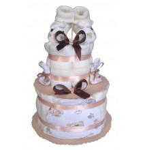 Gâteau de couches Mixte Pampers Cadeau Naissance