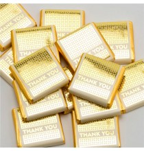 10 Chocolats Thank You Doré emballage individuel