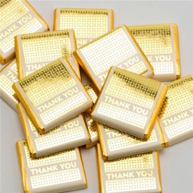 10 Chocolats Thank You Doré emballage individuel