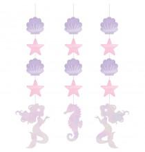 Guirlandes à Suspendre Petite Sirène Holographique - Anniversaire et fête