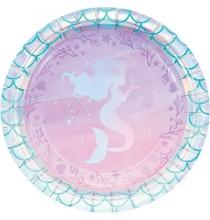 Petites Assiettes Petite Sirène Holographique - Anniversaire