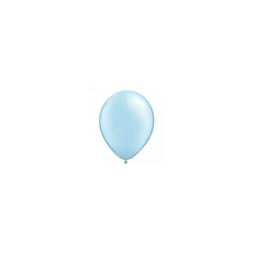 100 Mini Ballons Latex Bleu Pastel Nacré Fête - 5 pouces 12cm