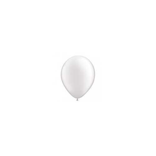 100 Mini Ballons Latex Blanc Nacré Fête - 5 pouces 12cm