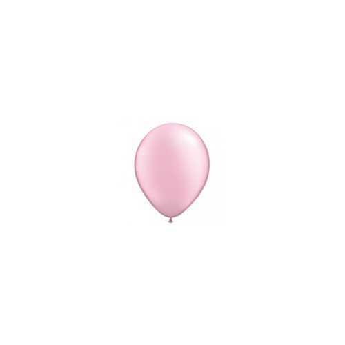 100 Mini Ballons Latex Rose Pastel Nacré Fête - 5 pouces 12cm
