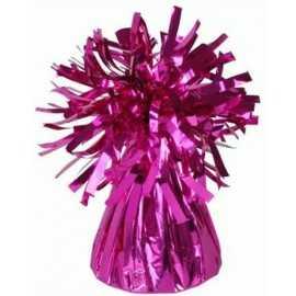 Sac Contrepoids Pour Ballon Hélium Rose Fushia Brillant
