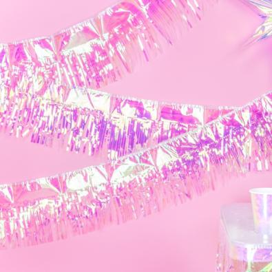 Guirlande à Franges Holographiques Décoration de fête
