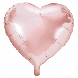 Ballon Géant Coeur Rose Cuivré Gold Hello World Baby Shower