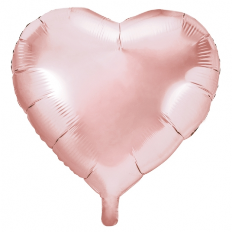 Ballon Géant Coeur Rose Cuivré Gold Hello World Baby Shower