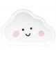 6 Assiettes en forme de nuage blanc - vaisselle jetable