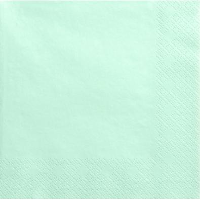 Grandes Serviettes Papier Vert Pastel Vaisselle Jetable de Fête