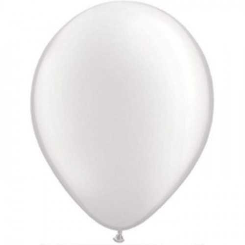 100 Ballons -Maxi Sachet Gonflables Latex Blanc Nacré Premium Décoration Fête