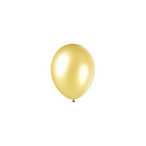 100 Ballons - Maxi Sachet Gonflables Latex Dorés Nacrés Premium Décoration Fête