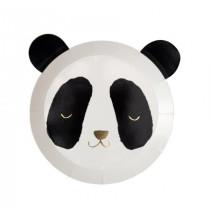 Assiettes Tête de Panda - Doré Noir et Blanc