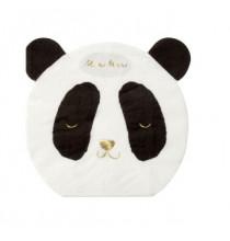 16 Serviettes Cocktail Tête de Panda - Doré Noir et Blanc