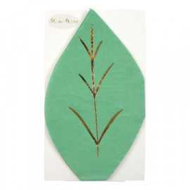Serviettes Feuilles Vertes En Papier Vert Vaisselle Jetable