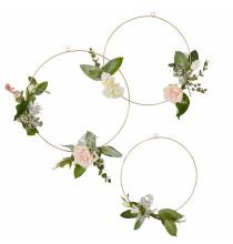 3 Cerceaux Dorés à Décorer de Fleurs Liberty - Collection décoration florale