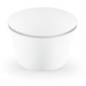 6 Contours à Cup Cakes Blanc et Argent