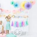 Mini Guirlande de Tassels Pastel - Anniversaire pour Enfants