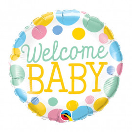 Ballon Welcome Baby Pastel Décoration