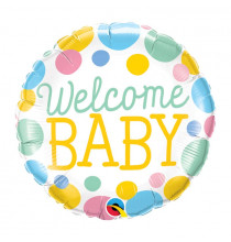 Ballon Bulle Welcome New Baby Pastel