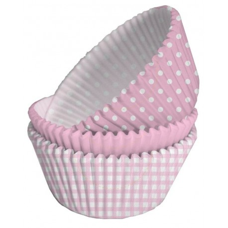 75 Moules Cup Cake Baby Shower Assortis Rose