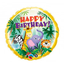 Ballon Rond Animaux Jungle - Anniversaire