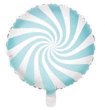 Ballon Rond Candy Bleu Pastel - Anniversaire pour Enfants