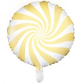 Ballon Rond Candy Jaune Pastel - Anniversaire pour Enfants