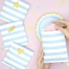 6 Sachets En Papier Rayés Bleu & Blanc - Cadeaux Invités