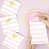 6 Sachets En Papier Rayés Rose & Blanc - Cadeaux Invités