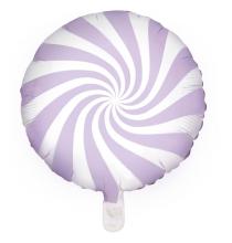 Ballon Rond Candy Parme Pastel - Anniversaire pour Enfants