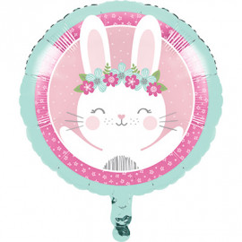 Ballon Alu Lapin Rose et Mint - Girly