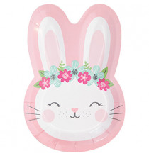Assiettes en Forme de Lapine Rose et Mint - Fille