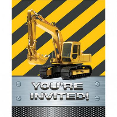 Invitation Thème Chantier de Construction